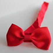 Rood haarbandje strikje