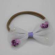 Haarbandje romantische witte tule strik