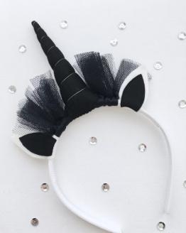Unicorn diadeem zwart