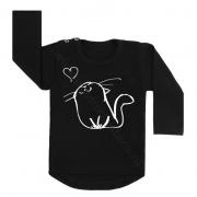 Longsleeve zwart kat