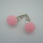 Setje haarspeldjes roze pompoms