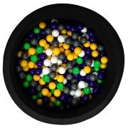 Ballenbak zwart met 200 ballen