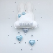 Naam mobile blauw konijntje