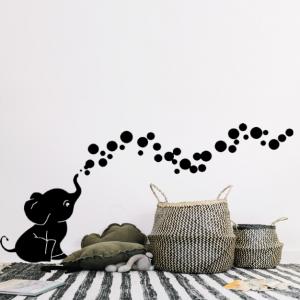 muursticker olifant met bubbels
