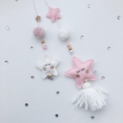 Twin hanger roze sterren