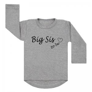 Shirt Big Sis To Be grijs