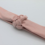 Tricot haarband soft pink braid