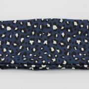 Handgemaakte colsjaal donkerblauwe panter (uv stof!)