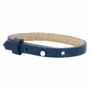 leren SOS armband navy blauw