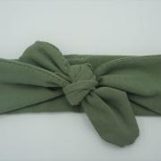 Wrap haarband khaki groen