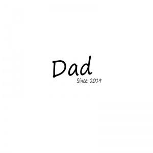 Strijkapplicatie dad since vaderdag