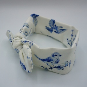 Wrap haarband blue birds