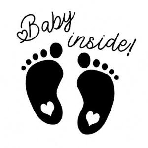 Strijkapplicatie baby inside