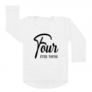 Shirt four ever young wit