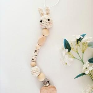 Gepersonaliseerd speenkoord bunny