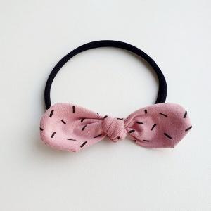 Haarband roze sprinkles stoffen strik